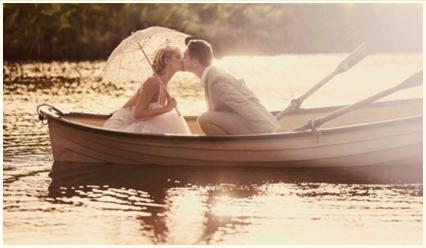 Beautiful Wedding photo on water at Albion Farm