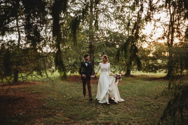 Albion Farm Gardens Autumn Wedding
